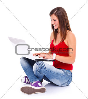 Woman surfing the web