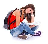 Learning student girl