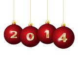 Red Christmas Balls 2014