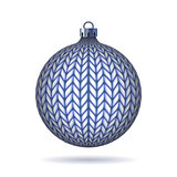 Blue Knitted Christmas Ball.