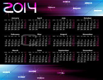 2014 year calendar.