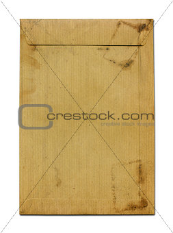 Old grunge brown paper envelope
