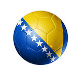 Soccer football ball with Bosnia and Herzegovina flag
