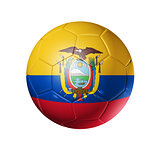 Soccer football ball with Ecuador flag