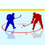 Ice hockey players. Vector illustration