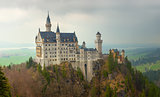 Neuschwanstein castle in Bavarian alps