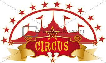 circus red design