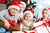 Kids with presents