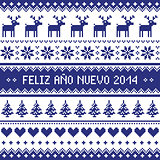 Feliz Ano Nuevo 2014 - spanish happy year pattern