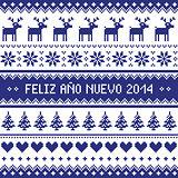 Feliz Ano Nuevo 2014 - spanish happy year pattern