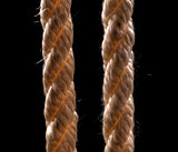 two ropes on a black background