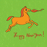 fire horse year card