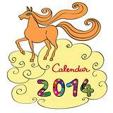 horse calendar 2014 cover