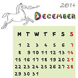 horse calendar 2014 december