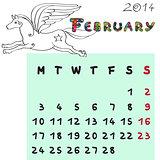 horse calendar 2014 february