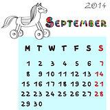horse calendar 2014 september
