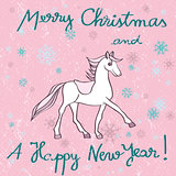 horse year pink card