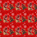 Seamless red christmas background