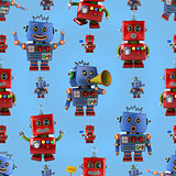 Happy robots pattern
