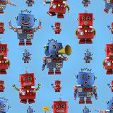 Happy robots pattern