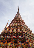 Buddhist temple gable at Thailand
