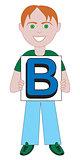 Letter B Boy