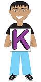 Letter K Boy
