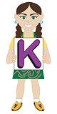 Letter K Girl