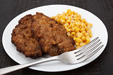 cutlets with corn