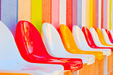 bright colored seats in the kids' club