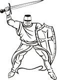 Medieval knight crusader