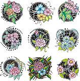 round flower ornamental decorations