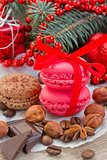 cookies with christmas  decorations close up