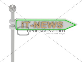 "3d rendering of sign with gold ""iT-NEWS"""