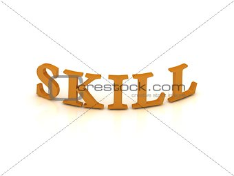 SKILL sign with orange letters