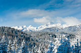 Julian alps with Triglav in the winter