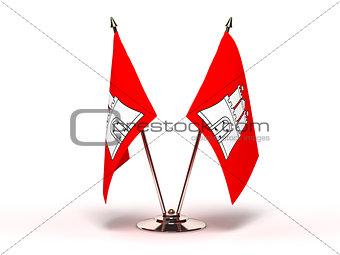 Miniature Flag of Hamburg