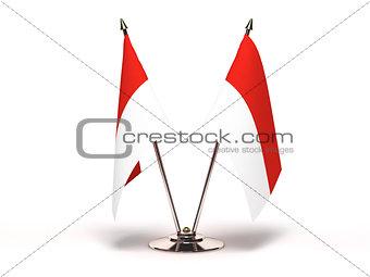 Miniature Flag of Monaco
