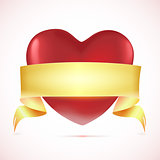 Red heart with tape