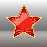 Red Star Vector Illustration.