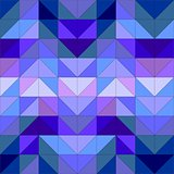 Seamless vector blue pattern, texture or background. Violet, navy blue and dark colorful geometric mosaic shapes.