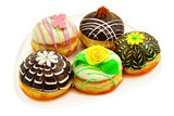 Five beautiful donuts