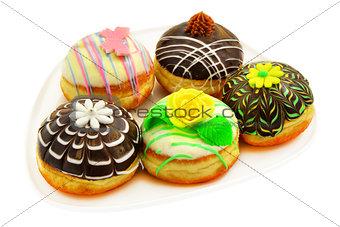 Five beautiful donuts