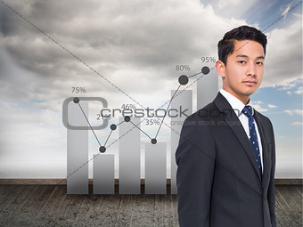 Composite image of statistic on sky background