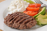 Grilled sirloin patty