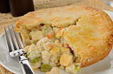 chicken pot pie closeup