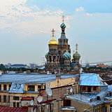 View to the Church Savior on Blood in St-Petersburg, Russia.