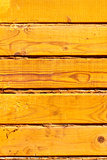 wooden yellow wall