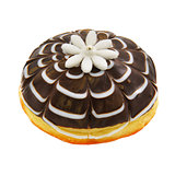 Donut with white marzipan flower