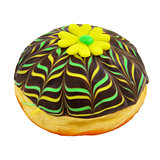 Donut with yellow marzipan flower